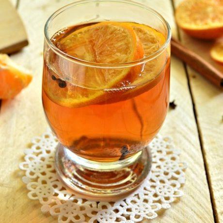 Чайный напиток с мандарином